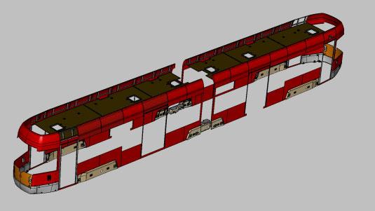 Sestava exteriérových dílů na prototypu LF 2 IN